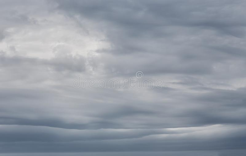 Sky background with storm clouds. Sky background with dramatic dark clouds. Sky texture photo with storm clouds royalty free stock photos