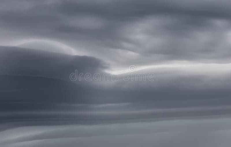 Sky background with storm clouds. Sky background with dramatic dark clouds. Sky texture photo with storm clouds stock images