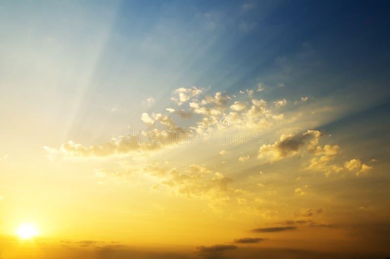 Sky background on sunrise. stock image