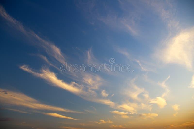 Sky background on sunrise. stock photos