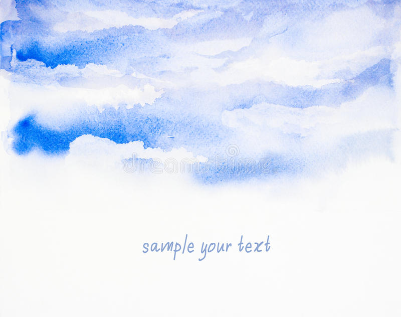 Sky background ' watercolor painted vector illustration