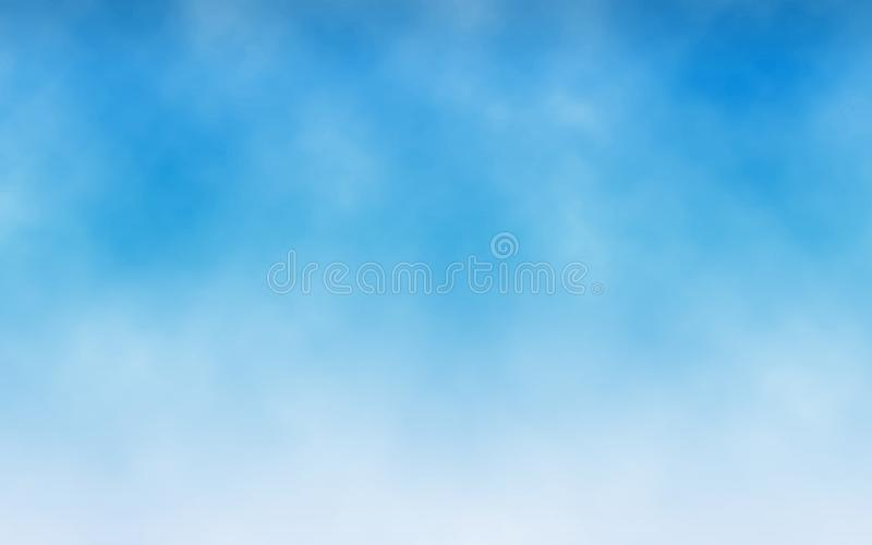 Sky background. White clouds in blue sky. Realistic texture for website. Abstract backdrop. Minimalist design. Vector stock illustration
