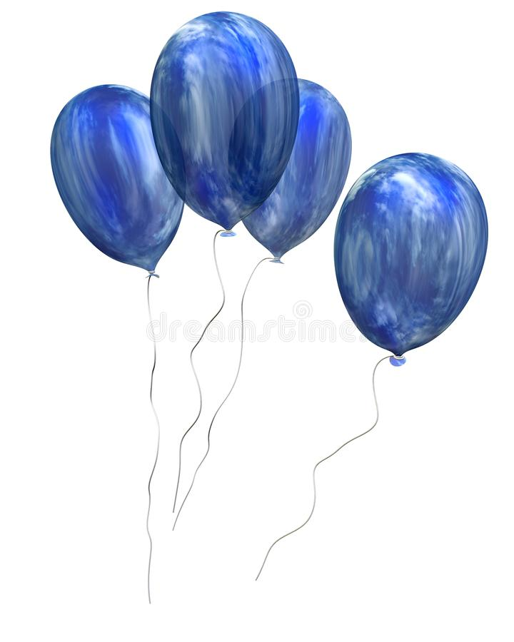 Sky balloons vector illustration