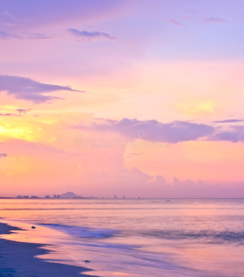 Download Sky beach sunset stock image. Image of dawn, cloud, beach - 25357933
