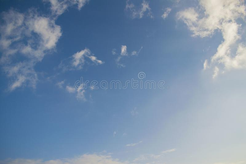 The sky is beautiful with little clouds. royalty free stock images