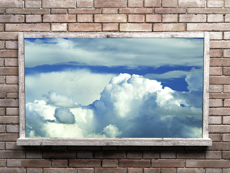Download Sky into blackboard stock photo. Image of gallery, canvas - 18394342