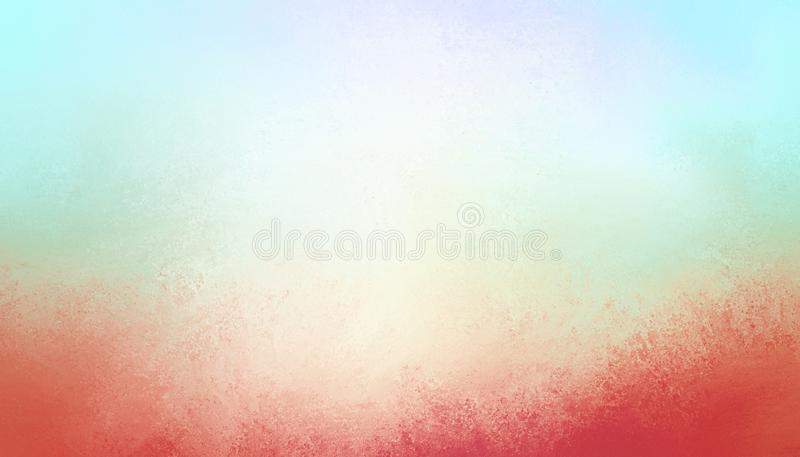 Sky blue background with grunge textured red border in abstract vintage design royalty free stock photos