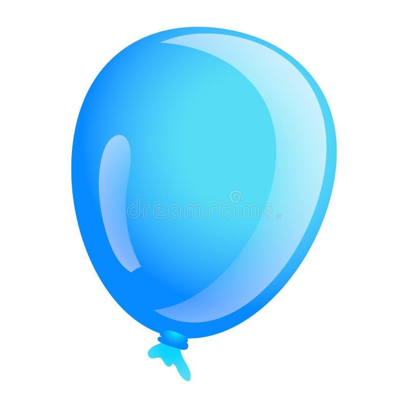 Free Sky Blue Ballon Icon, Cartoon Style Royalty Free Stock Images - 127191879