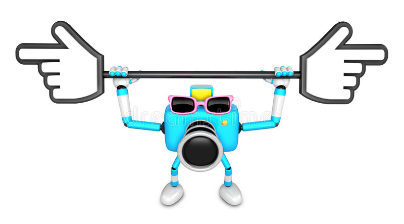 Download That Sky Blue Camera Holding A Large Cursor Indicate A Direction Stock Illustration - Image: 33613772