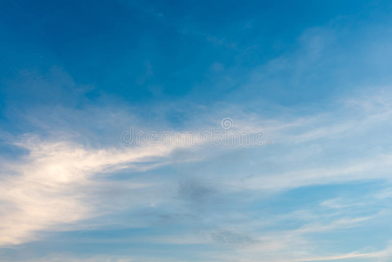 Sky. Blue sky with cloud in evening royalty free stock image