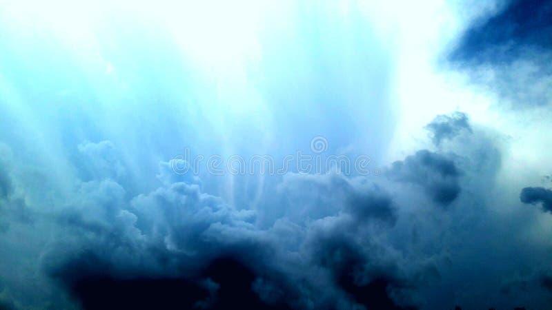 Sky in blue stock image