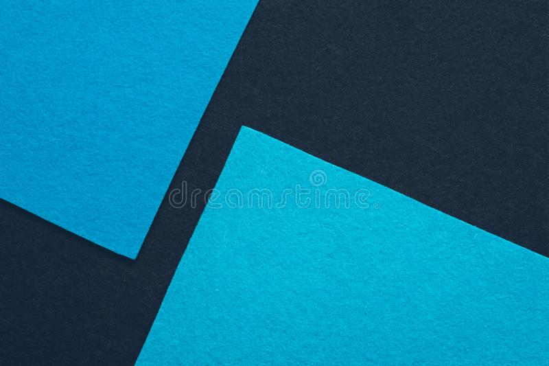 Sky blue felt texture sheets geometric background stock images