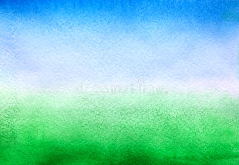 Sky blue and green background stock photo