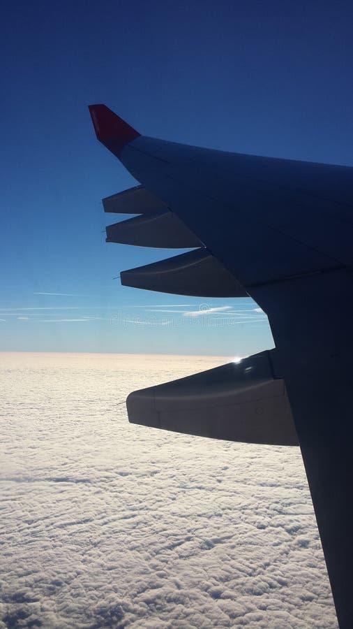 Sky, Blue, Sea, Airplane stock image