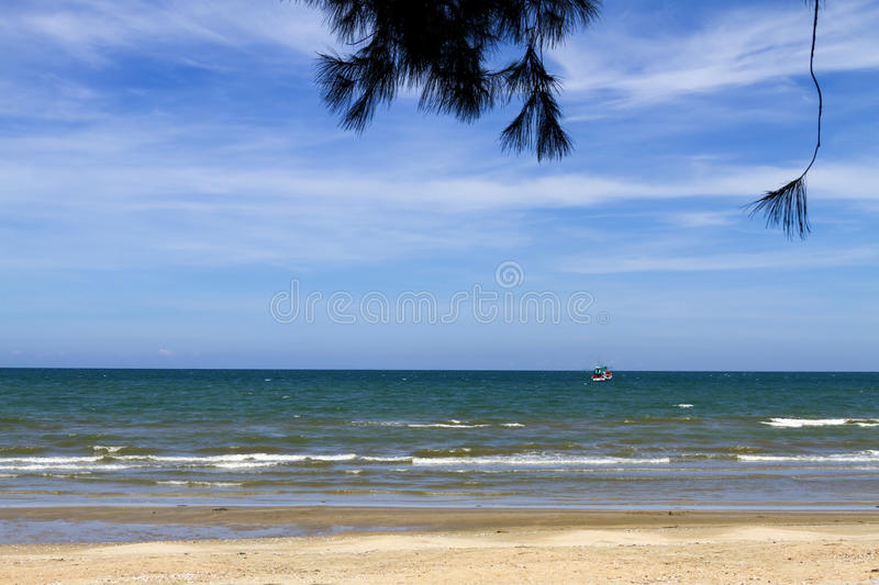 Download Sky with blue sea water stock photo. Image of rest, landscape - 34159762