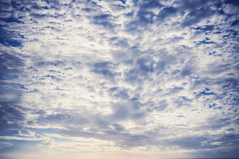 Sky and blue sky clouds with white clouds - vertical image Sky images as a background guide royalty free stock photos