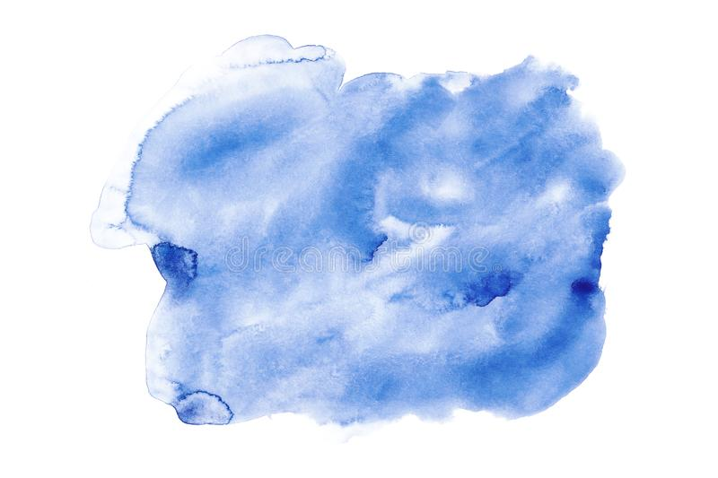 Sky blue watercolor background on paper texture stock photo
