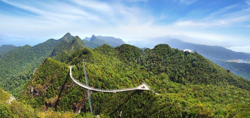 Sky bridge. Langkawi royalty free stock photo