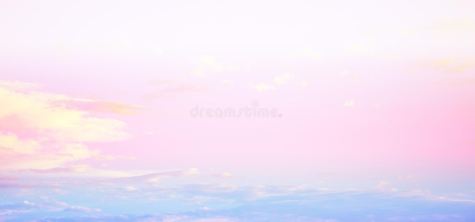 Sky bright pastel colors. Summer tropical background royalty free stock photo