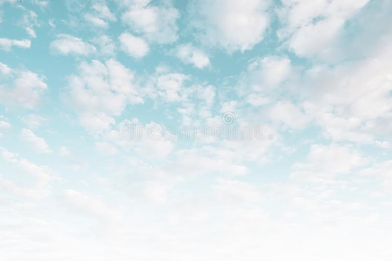 Sky bright pastel colors. Summer tropical background royalty free stock photos