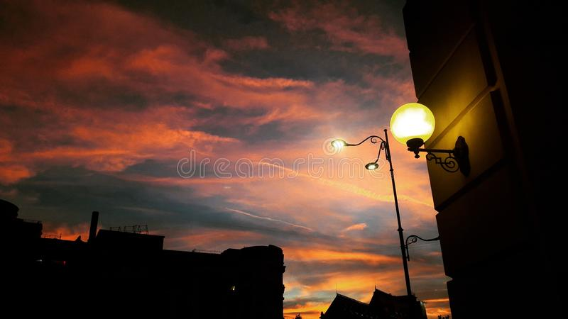 Sky in Bucharest royalty free stock image