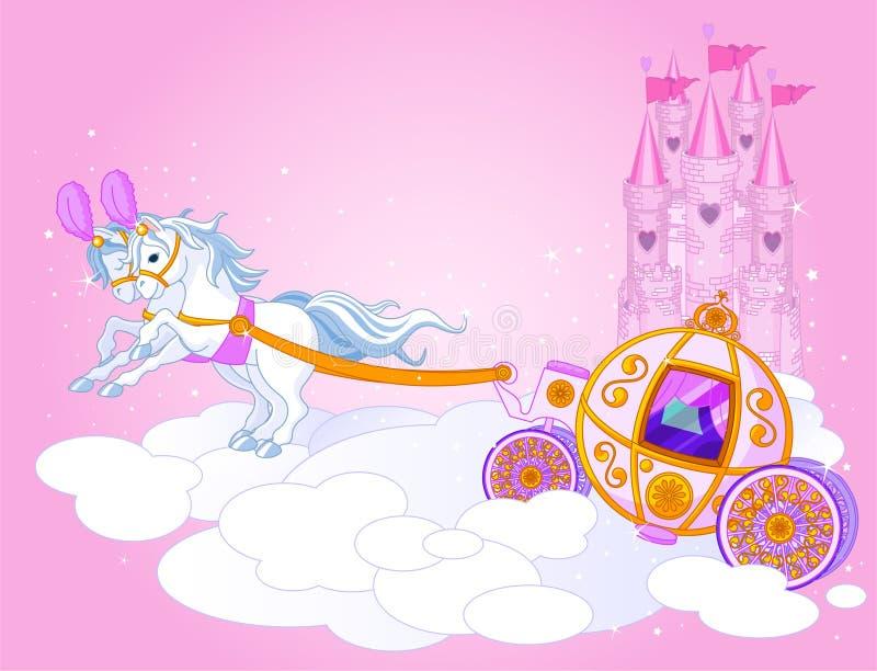 Sky carriage illustration stock illustration