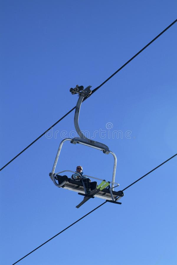 Sky chair-lift royalty free stock images