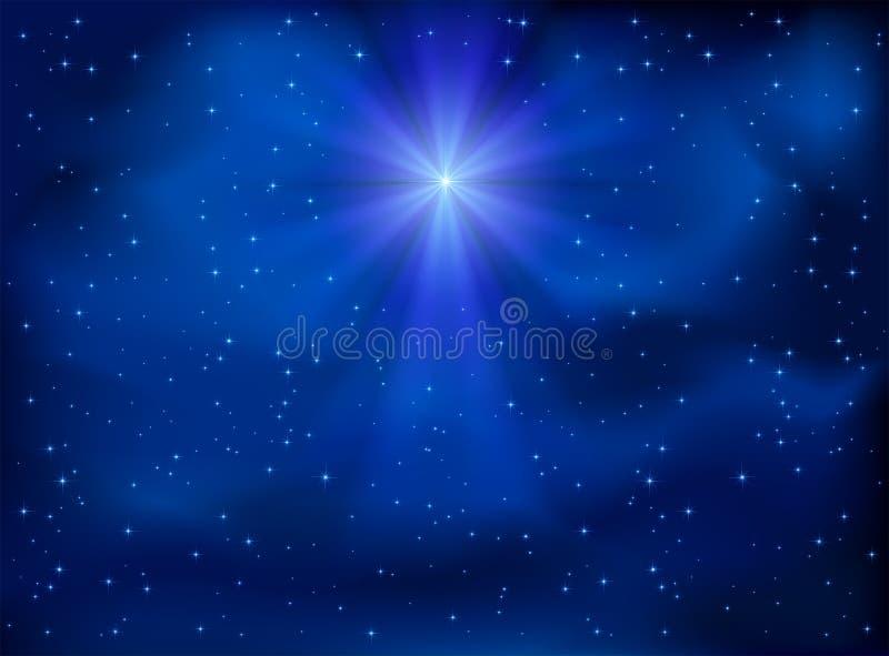 Sky and Christmas star royalty free illustration