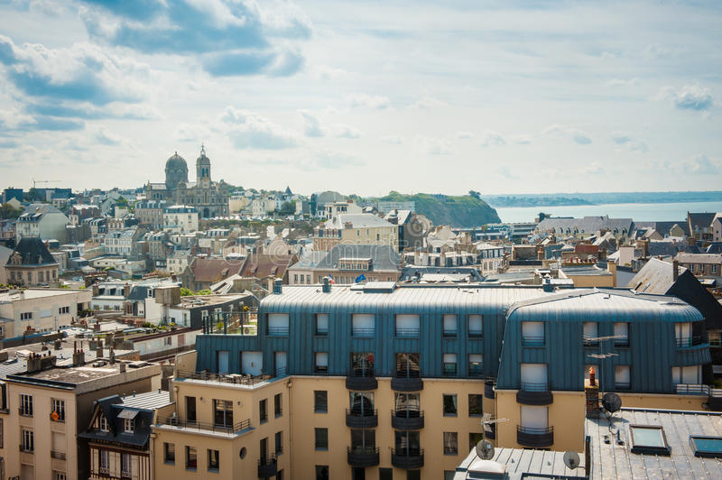 Sky and city in the Brittany. France royalty free stock photos