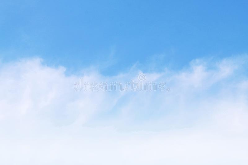 Sky clear, Sky blue Beautiful background, sky with clouds royalty free stock photography
