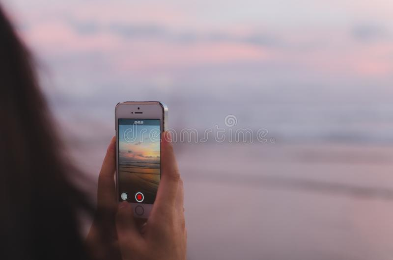 Sky, Close Up, Electronic Device, Mobile Phone royalty free stock photography