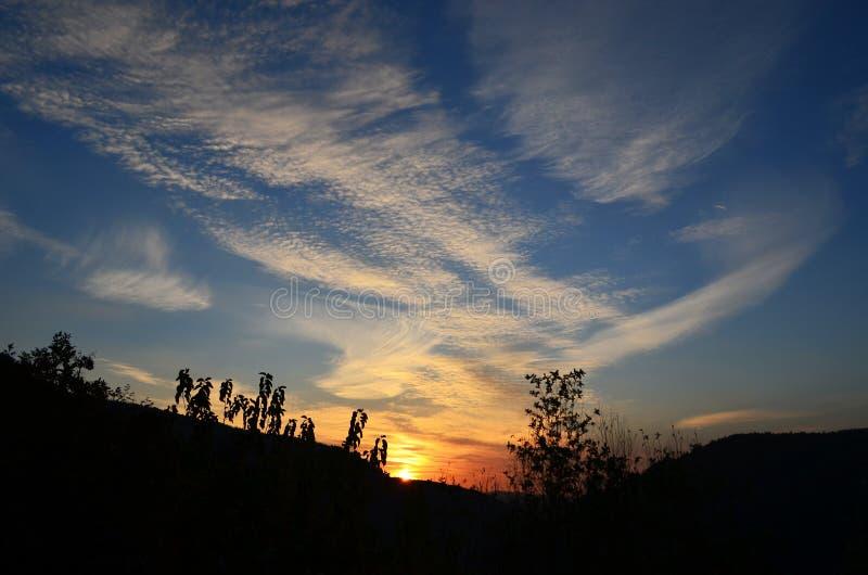Sky, Cloud, Afterglow, Sunset royalty free stock photos
