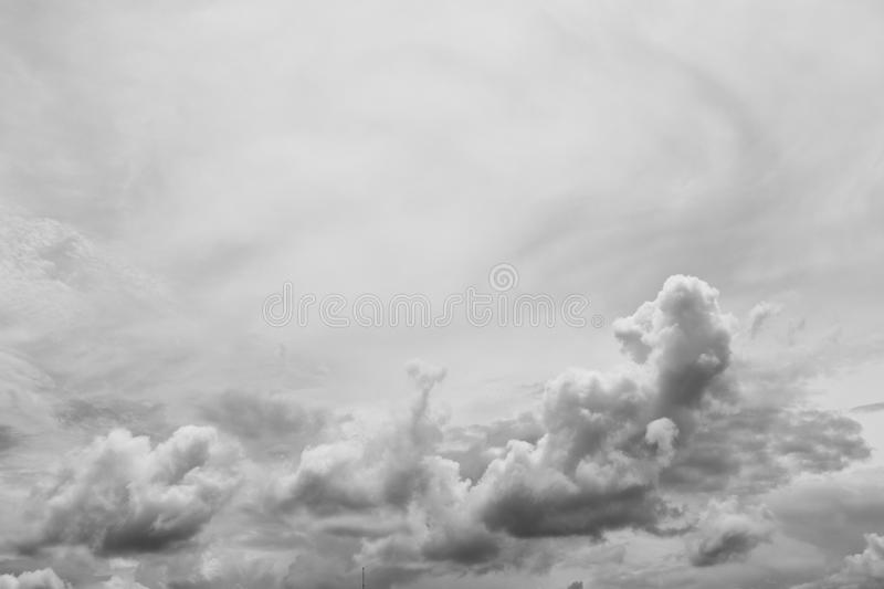 Sky and cloud beautiful. photo monochrome for background royalty free stock photography