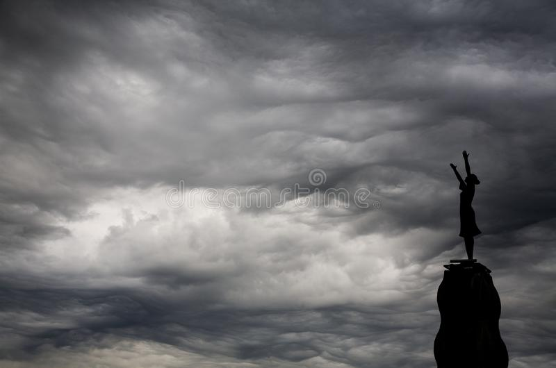 Sky, Cloud, Black And White, Atmosphere royalty free stock photos