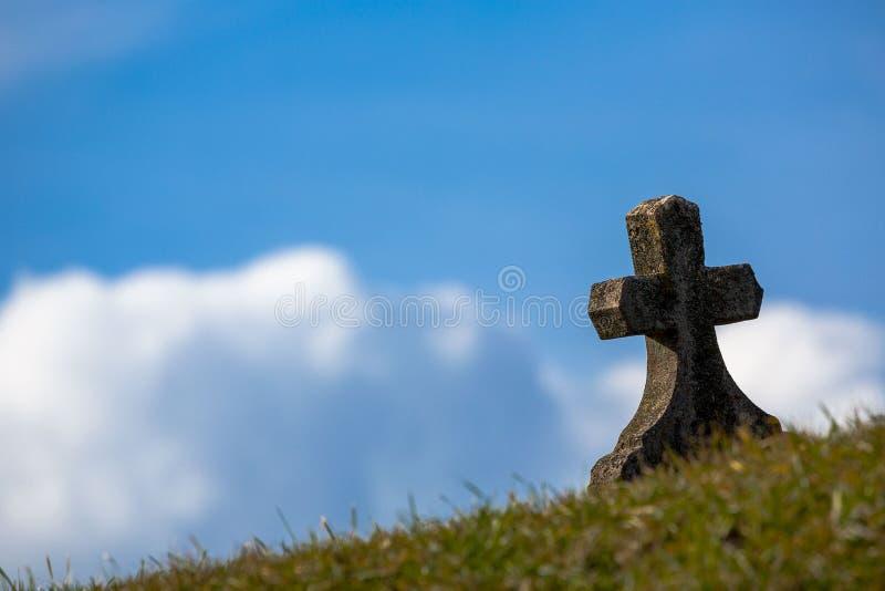 Sky, Cloud, Cross, Grass stock photo