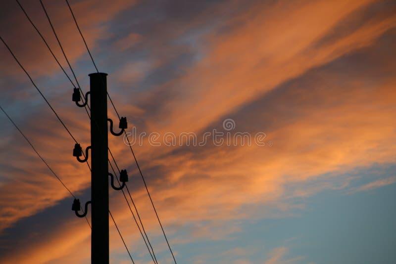 Sky, Cloud, Electricity, Sunrise stock photography