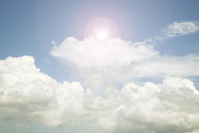 Sky and cloud ,Good weather day background. image is retro filte royalty free stock photos