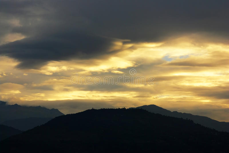 Sky and cloud landscapes of himalayas royalty free stock photo