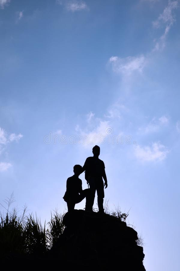 Sky, Cloud, Silhouette, Tree stock photography