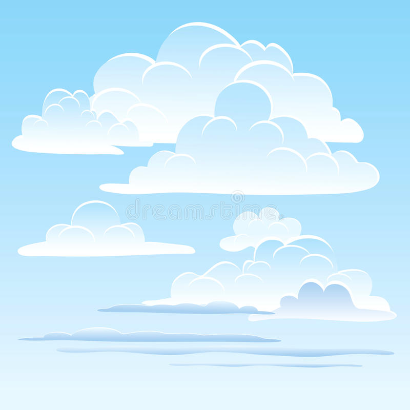 The sky with clouds royalty free illustration