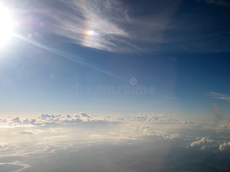 Download Sky clouds stock image. Image of atmosphere, angels, aeroplane - 2211605