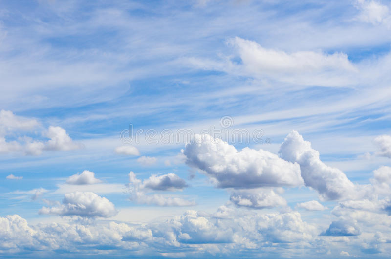 Download Sky with clouds stock image. Image of blue, fluffy, cloud - 24754649