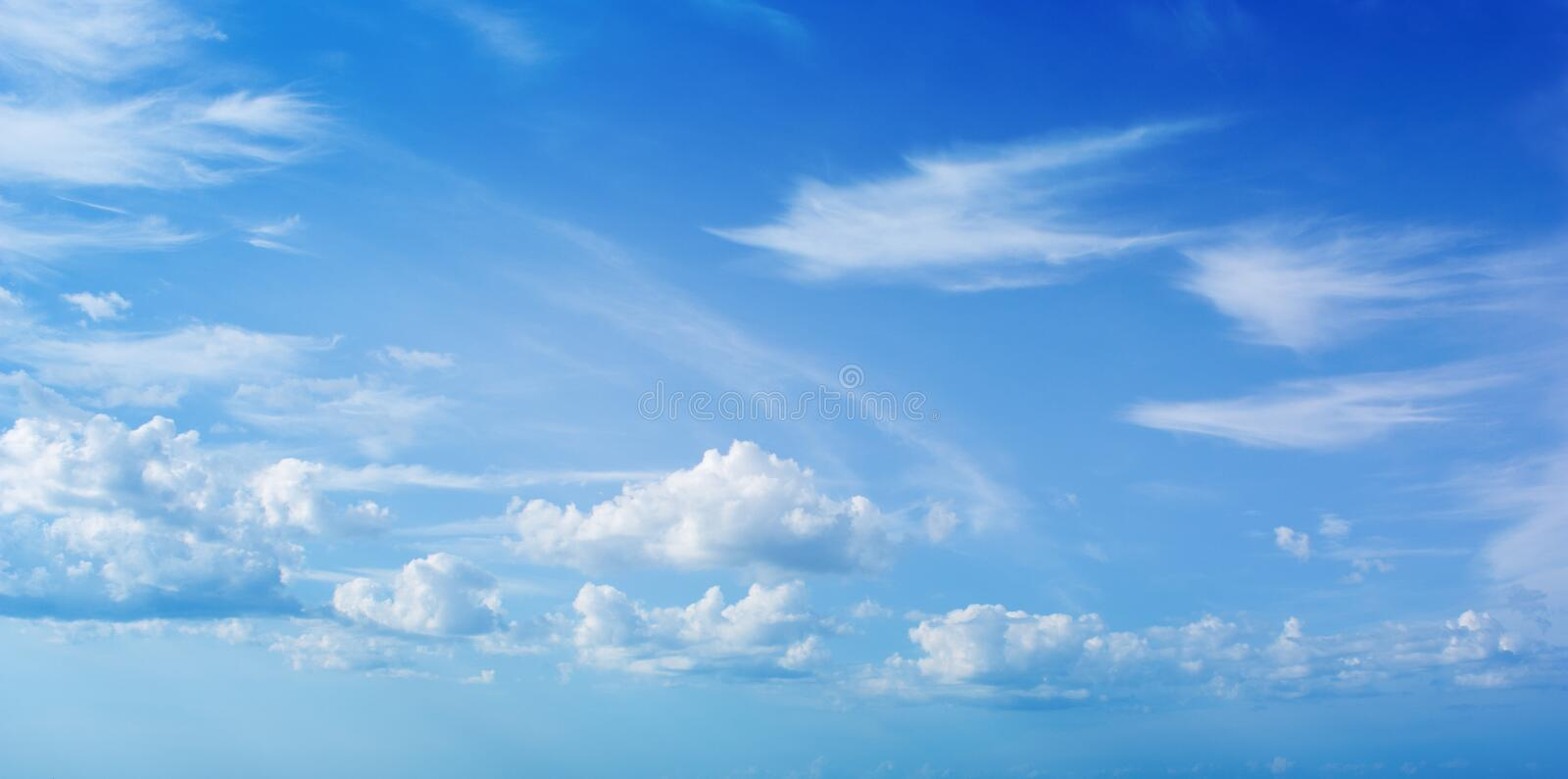 Sky and clouds. Natural banner stock image