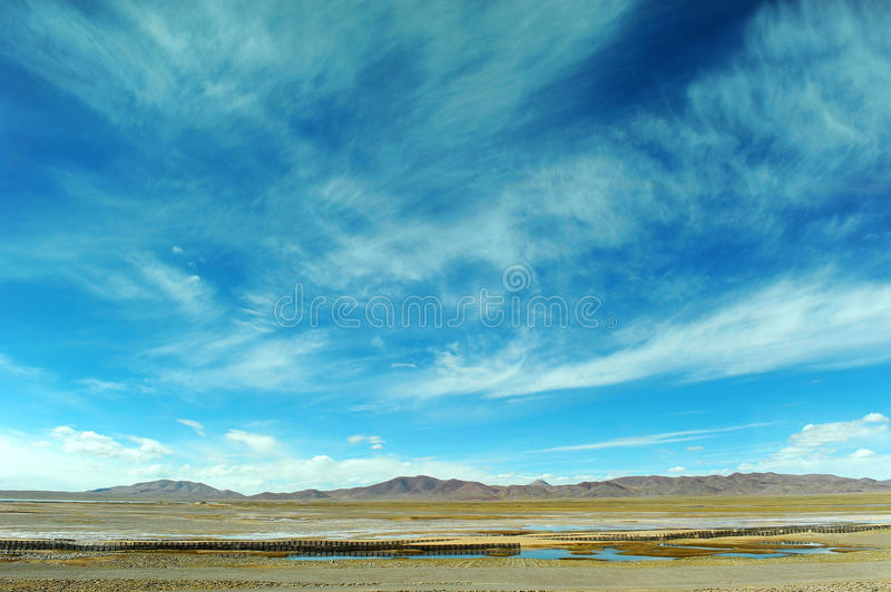 Sky and clouds above the plateau royalty free stock images
