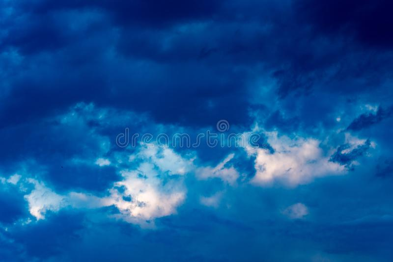 Sky and clouds background. Blue sky stock image