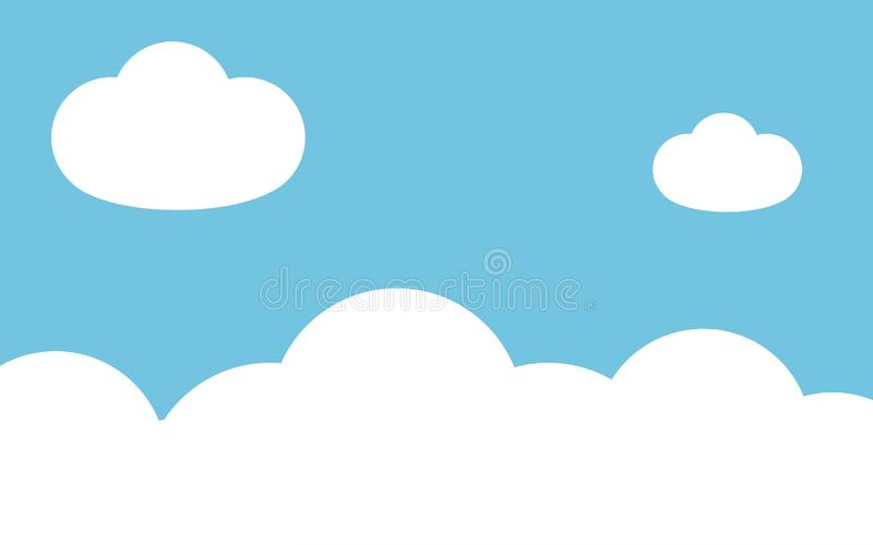 Sky with clouds background vector. Illustration stock illustration