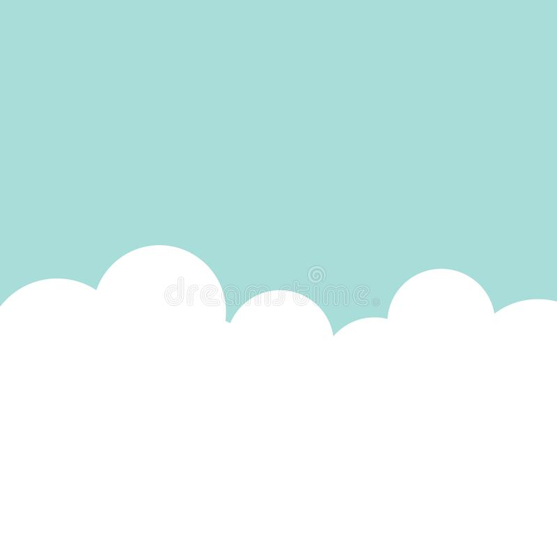 Sky clouds background vector. Illustration royalty free illustration