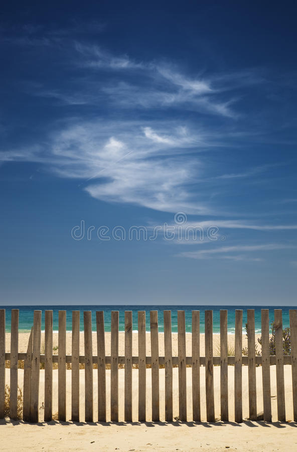 Sky with clouds on the beach