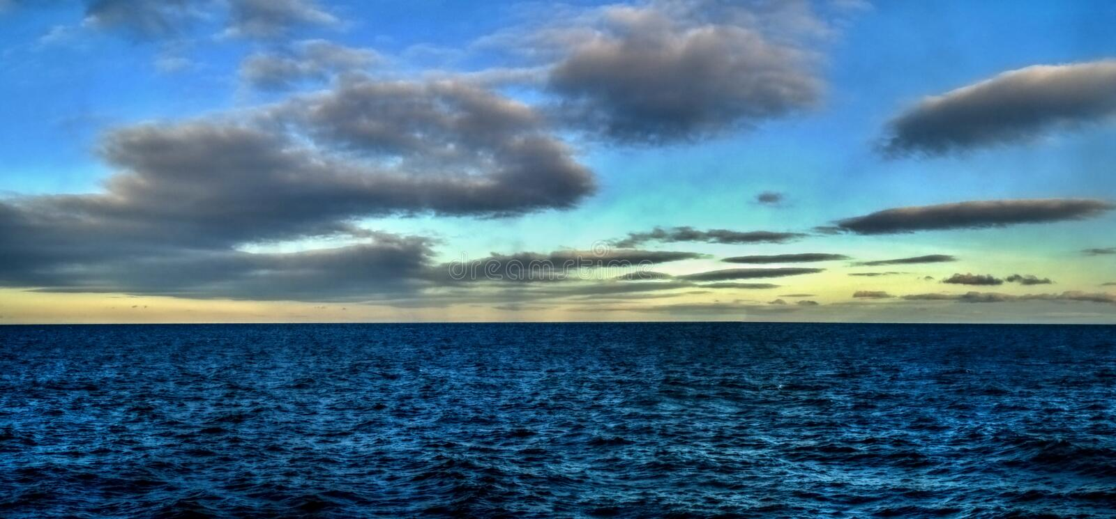 The sky and clouds Bering sea royalty free stock image