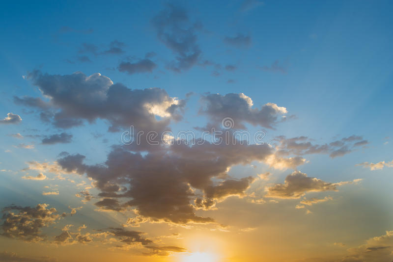 Sky clouds. Blue sky background with clouds royalty free stock photo